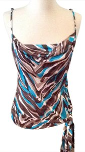 Trina Turk Top brown, teal, cream