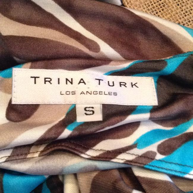 Trina Turk Top brown, teal, cream Image 4