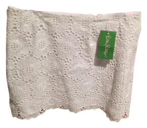Lilly Pulitzer Eyelet Mini Skirt White