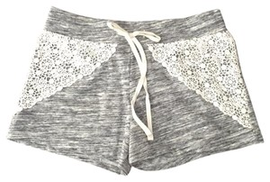 Mossimo Supply Co. Mini/Short Shorts gray with ivory crochet