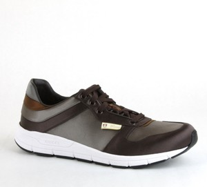 Gucci Brown/ Gray Satin Multi-color Lace-up Trainer Sneaker 12 G/ Us 12.5 336613 2194 Shoes