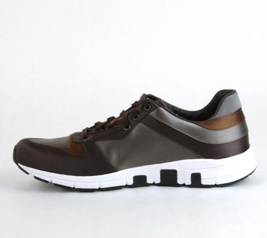 Gucci Brown/ Gray Satin Multi-color Lace-up Trainer Sneaker 12 G/ Us 12.5 336613 2194 Shoes Image 5