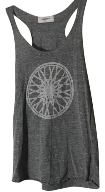 Item - Heather Grey Classic with Wheel Activewear Top Size 8 (M)
