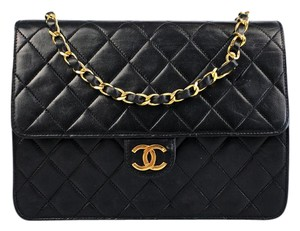 Chanel Vintage European Luxury Quilted Lambskin Shoulder Bag