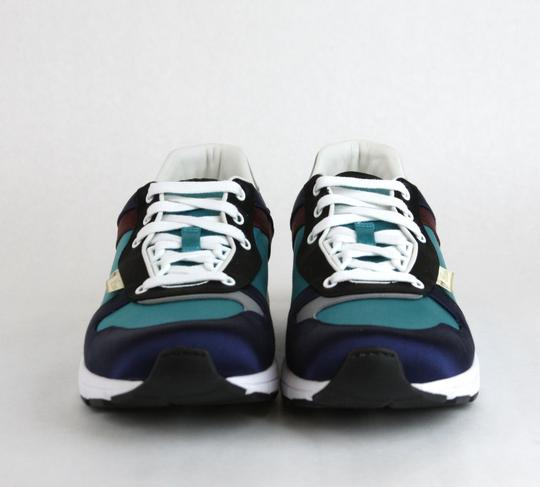 Gucci Blue/ Teal Satin Multi-color Lace-up Trainer Sneaker 11 G/ Us 11.5 336613 4160 Shoes Image 2