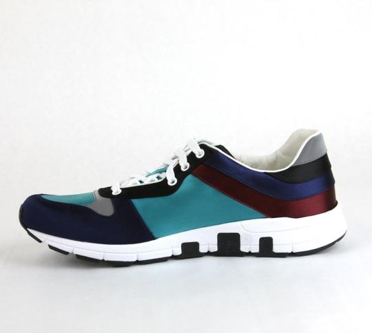 Gucci Blue/ Teal Satin Multi-color Lace-up Trainer Sneaker 11 G/ Us 11.5 336613 4160 Shoes Image 5