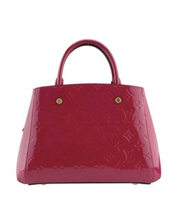 Louis Vuitton Monogram Leather Lv Vernis Satchel in Pink