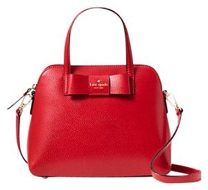 Kate Spade Leather Satchel in PILLBOX RED