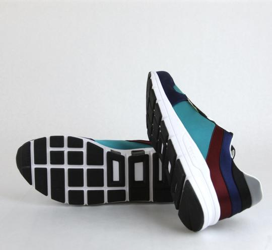 Gucci Blue/ Teal Satin Multi-color Lace-up Trainer Sneaker 12 G/ Us 12.5 336613 4160 Shoes Image 6