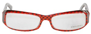 alain mikli AL0322-0102 alain mikli New-Tags-Case Red Black Checkered Eyeglasses