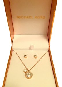Michael Kors Michael Kors gold necklace and earring set