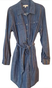 Banana Republic short dress Denim Chambray Shirt Boho on Tradesy