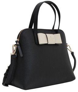 Kate Spade Maise Leather Satchel in BLACK