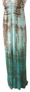 aqua and brown Maxi Dress by Gypsy05