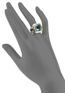 David Yurman Women's Blue Topaz Sterling Silver 14k Yellow Gold Ring