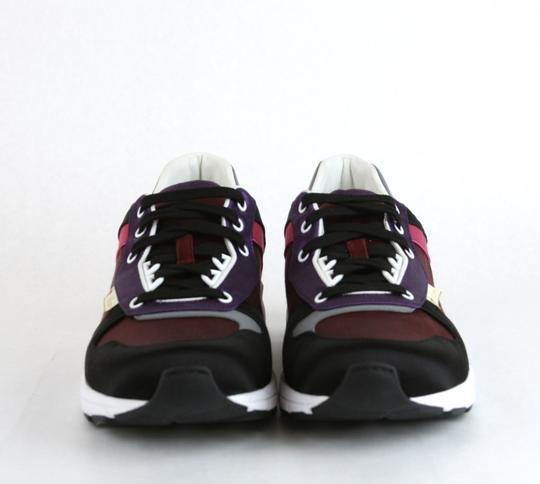Gucci Black/ Red Satin Multi-color Lace-up Trainer Sneaker 12 G/ Us 12.5 336613 1062 Shoes Image 2