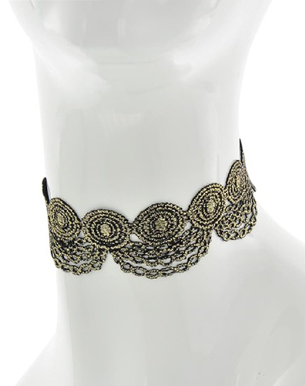 Preload https://img-static.tradesy.com/item/20773610/goldblack-and-fabric-lace-reversible-choker-necklace-0-1-540-540.jpg