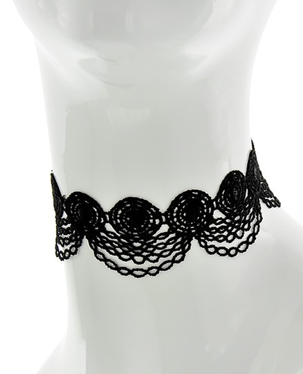 Other Black & Gold Fabric Lace Reversible Choker Image 1