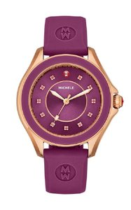 Michele Women's Cape Rose Gold Berry Silicone Band Watch MWW27A000002