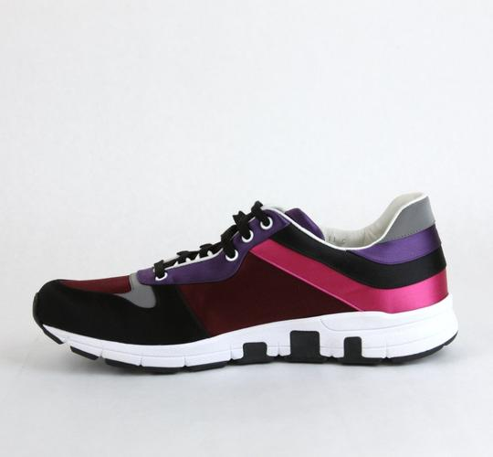 Gucci Black/ Red Satin Multi-color Lace-up Trainer Sneaker 14 G/ Us 14.5 336613 1062 Shoes Image 5