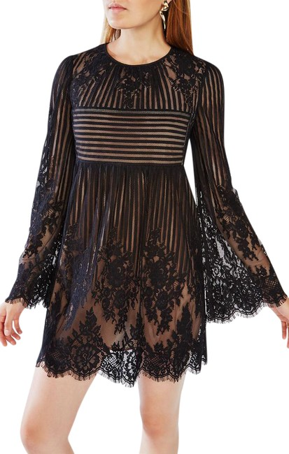 Preload https://img-static.tradesy.com/item/20773714/bcbgmaxazria-black-lace-embroidered-shift-short-cocktail-dress-size-2-xs-0-1-650-650.jpg