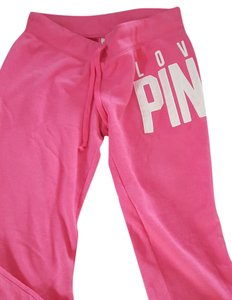 PINK Sweats Lounge Victoria Secret Medium Relaxed Pants Hot Pink