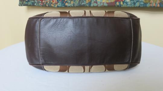 Coach Large Leather Trimmed Signature Fabric Tote in brown Image 2