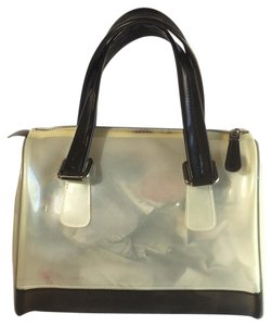 Melie Bianco Satchel in off white and smoke