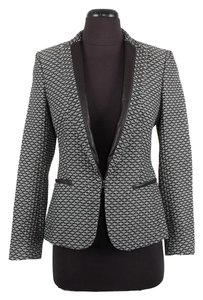 Rag & Bone & Leather Black & White Blazer