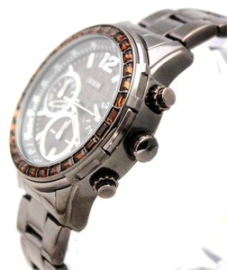 Guess NEW GUESS U0016L4 Brown Tachymeter Chronograph Women