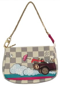 Louis Vuitton Lv Transatlantique Pouch Wristlet in Beige Gray