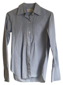 Nili Lotan Button Down Shirt Blue