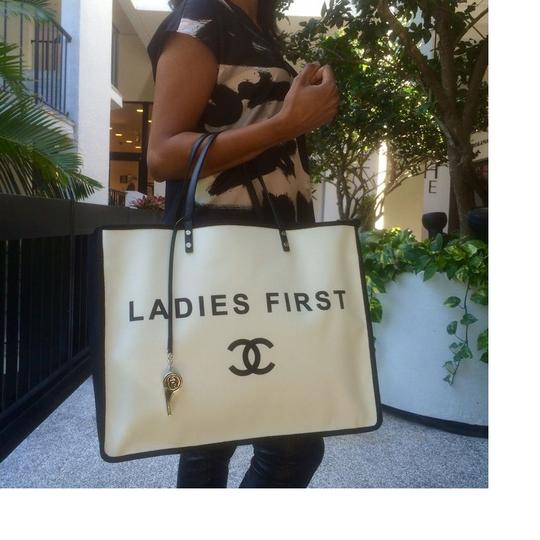 Chanel Ladies First Tote in White