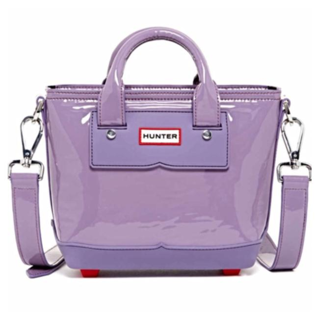 Hunter Mini Tote Lavender Purple Leather Rubber Fabric Lining Cross Body Bag Hunter Mini Tote Lavender Purple Leather Rubber Fabric Lining Cross Body Bag Image 1