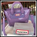Hunter Mini Tote Lavender Purple Leather Rubber Fabric Lining Cross Body Bag Hunter Mini Tote Lavender Purple Leather Rubber Fabric Lining Cross Body Bag Image 2