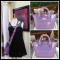 Hunter Mini Tote Lavender Purple Leather Rubber Fabric Lining Cross Body Bag Hunter Mini Tote Lavender Purple Leather Rubber Fabric Lining Cross Body Bag Image 8