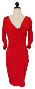 Donna Karan short dress Red Sexy Black Label on Tradesy