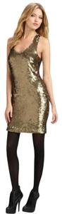 Robert Rodriguez Sequin Sleeveless Sleeveless Dress