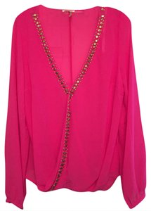 Marineblu Top Hot Pink