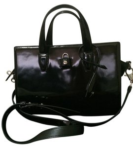 Alexander Wang Patent Leather Satchel in black