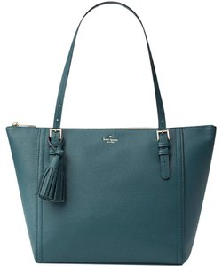 Kate Spade Down The Rabbit Hole Oops A Daisy Large Travel Tote in Grene emerald