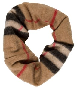 Burberry Beige, black multicolor cashmere Burberry House Check snood