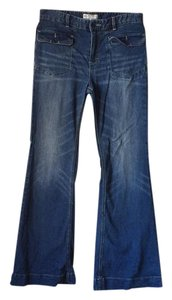 Free People Trouser/Wide Leg Jeans-Medium Wash