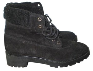 Zara Suede Ankle Lace-up Black Boots
