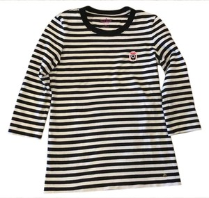 Kate Spade T Shirt Black and white stripes