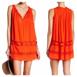 Free People short dress Red (deep reddish coral hue) on Tradesy