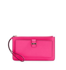Kate Spade Leather Ceder Street Lacy Pink Confetti Clutch