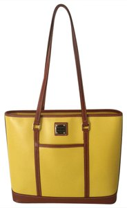 Dooney & Bourke New & Cynthia Leather Sunflower Tote in Sunflower/Yellow