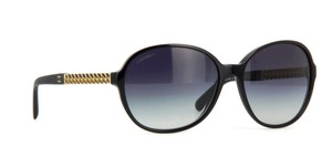 c7199899d1 Chanel 5304 Round Chain Link Quilted CC Logo Wayfarer Classic Oval Black  Gold