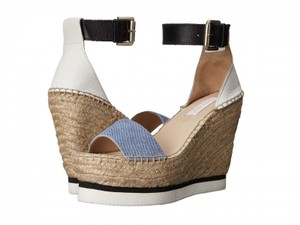 See by Chloé Summer Espadrille Raffia Denim Wedges